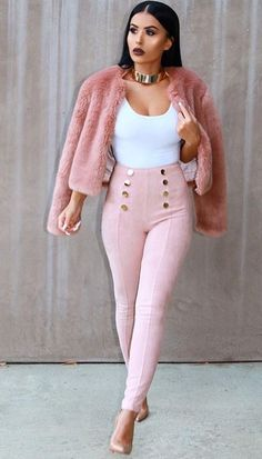 eee3e229358 Pants Women 2017 New Autumn Style High Waist Gold Button Pants Pantalon  Femme Sexy Slim Suede Bodycon Pencil Trousers
