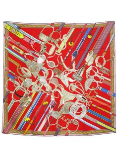Hermes Scarf Shawl 100% Silk Carre 90 Concours d'etriers AUTHENTIC #Hermes #Scarf
