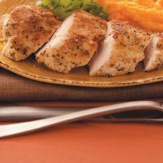 """Dijon-Crusted Chicken Breasts - """"If you're craving fried chicken, this dish will hit the spot! A crisp and flavorful coating makes this easy entree feel special and indulgent."""""""