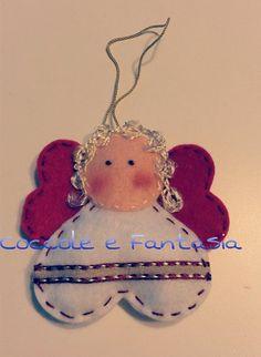 Decorazioni natalizie: angioletti in pannolenci