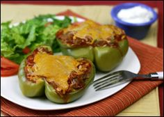 Large Low Calorie Meals with Five Ingredients - 'Bean There, Stuffed That' Peppers & Maximum Veggie Hungry Chick 'Fredo Skinny Recipes, Ww Recipes, Mexican Food Recipes, Vegetarian Recipes, Cooking Recipes, Healthy Recipes, Healthy Foods, Recipies, Low Calorie Dinners