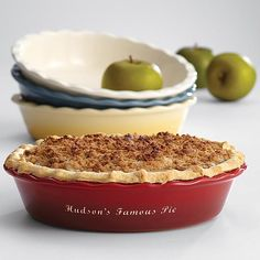 personalized pie dish/red envelope