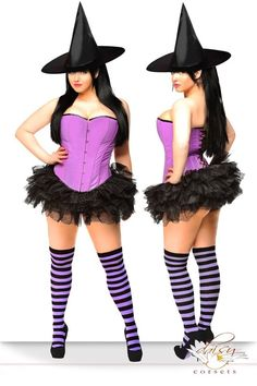 NEW! Daisy Corsets PIN-UP WITCH PURPLE 2XL Sexy Women's Deluxe Halloween Costume #DaisyCorsets #CompleteCostume