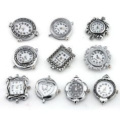 Wholesale 10pcs Silver Plated Antique Quartz Watch Face for Beading 151464 | eBay