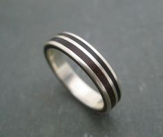 Rayo de Luz Nacascolo Ring - wood ring with recycled sterling silver