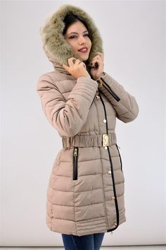Μπουφάν με εσωτερική επένδυση γούνας | POTRE Winter Jackets, Clothing, Collection, Fashion, Winter Coats, Outfits, Moda, Winter Vest Outfits, Fashion Styles