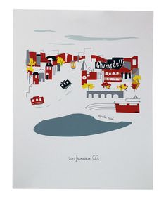 Love this San Francisco City Print by albie designs on #zulily! #zulilyfinds