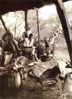Peter Beard in Africa...