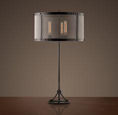 Riveted Mesh Table Lamp