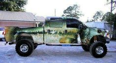 Here's a fishing truck!