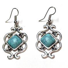 Natural turquoise earrings 🌞 Natural turquoise earrings E02011747 Jewelry Earrings