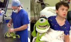 Surgeon carries out 'operation' on patient's favorite stuffed toy