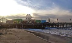 Morning sun at Santa Monica Pier