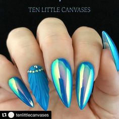 "356 Likes, 18 Comments - Social Claws (@socialclaws) on Instagram: ""Sheshell <mic drop>  #Repost @tenlittlecanvases ・・・ LeChat Dive In with Luminaura pigment...…"""
