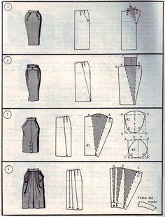 Sewing model DIY long skirt