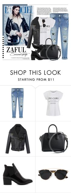 """""""ZAFUL.com"""" by monmondefou ❤ liked on Polyvore featuring Ally Fashion, Givenchy, Christian Dior, women's clothing, women's fashion, women, female, woman, misses and juniors"""