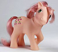 Marketed primarily to girls, My Little Ponies can be identified by their colourful bodies and manes and a unique symbol on one or both sides of their flanks.