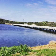 Such a beautiful day out today! :) #day #beautiful #walk #sun #water #bridge #sunny #spring #grass #green #blue #lake #river #colourful #pretty #sight #landscape #warrnambool #amazing #run #health #fitness #fit #fun #yay @destinationwarrnambool by hodg92