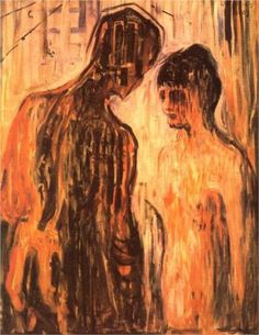 Cupid and Psyche - Edvard Munch 1907 (expressionism)