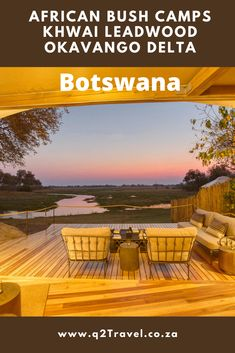 Take a peek into glamping in Okavango Delta, #Botswana