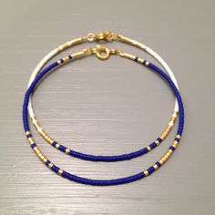 Delicate Bracelet Blue Bridesmaid Bracelet Delicate Jewelry Bridesmaid Gift Nautical Wedding This listing is for one beaded gold fill Bracelet. Bracelet is made of a Miyuki Delica beads, finished with a gold Filled clasps. Gold filled is the next level and is an amazing, quality