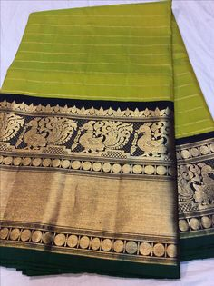 Sucharitha Boutique Silk Saree Kanchipuram, Kanjivaram Sarees, Fancy Sarees Party Wear, Saree Wearing, South Indian Sarees, Saree Trends, Kurti Neck Designs, Green Saree, Bridal Blouse Designs
