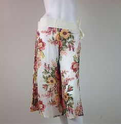 Sexy-Womans-Summer-Handcraft-Design-Short-Pants-Boho-Gypsy-Wide-Leg-100-Cotton