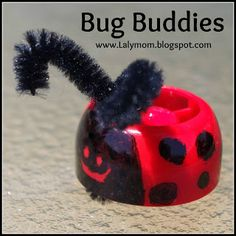 Ladybug Finger Puppet from Baby Food Cap