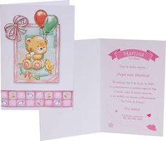 Invitación Bautizo librito rosa 423