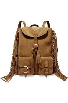 Saint Laurent   Festival large fringed suede backpack   NET-A-PORTER.COM