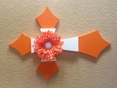 Super fun and fancy orange cross! Perfect way to brighten any room! on Etsy, $19.99
