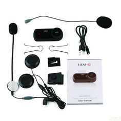 Waterproof  Motorcycle Bluetooth Helmet Intercom Full Duplex Talking with FM gift