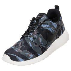 premium selection 74374 5baf3 THE SNEAKER ADDICT Nike Roshe Run GPX BlackSailMercury Grey Camo Sneaker