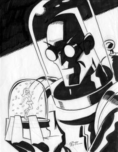 One of my all time favorites Mr. Freeze by Bruce Timm - Batman Poster - Trending Batman Poster. - One of my all time favorites Mr. Freeze by Bruce Timm Bruce Timm, Comic Book Artists, Comic Artist, Comic Books Art, Heros Comics, Dc Comics Art, Batman Poster, Batman Art, Gotham Batman