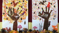 """手形で""""秋""""の木を描いたよ・トイレットペーパーの芯・アルミホイル ハンコ・秋の製作・保育・幼稚園・保育園・森の動物・壁面・季節の飾り❤︎autumn craft for kids❤︎子ども#579 - YouTube Diy Crafts For Kids, Art For Kids, Arts And Crafts, Vintage Campers Trailers, Education Logo, Camper Renovation, Autumn Crafts, Moose Art, Scrapbook"""