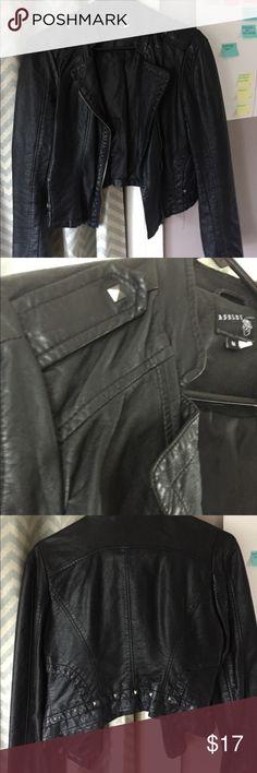leather jacket Medium faux leather jacket with studs. Adorable just slightly big on me. Jackets & Coats