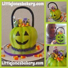 Little Jones' Lime Green Pumpkin Smash Cake! Littlejonesbakery.com Green Pumpkin, Custom Cakes, Cake Smash, Lime, Birthday Cake, Desserts, Personalized Cakes, Lima, Birthday Cakes