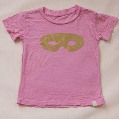 pink burnout tee with gold foil mask | via ATSUYO ET AKIKO