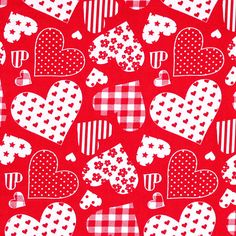 Cotton Dancing Hearts 3 - Cotton - signal red