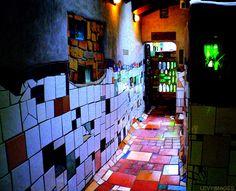 Inside of Hundertwasser flats