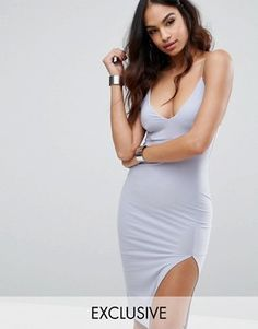 Browse online for the newest Club L Midi Cami Dress with Split styles. Shop easier with ASOS' multiple payments and return options (Ts&Cs apply). Daily Fashion, Fashion Photo, Fashion Online, Vegas Dresses, Maxi Dresses, Party Dresses, Asos, College Outfits, College Clothing