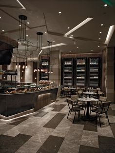 the restaurant takes advantages of its prestigious location and has been designed to redefine the boundaries between luxury dining and casual eat-outs. Modern Restaurant, Restaurant Interior Design, Cafe Restaurant, H Design, Cafe Design, Restaurants, Shop House Plans, Shop Interiors, Cafe Bar