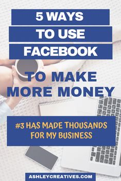 There are at least 5 simple ways to use Facebook to make more money for your business. Social media marketing is a great revenue of income for small businesses, but if Facebook doesn't like links (and they don't) then how can you use Facebook to make money? These 5 ways are so easy ANYONE can make them work. #facebook #facebookmarketing