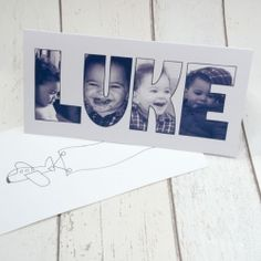 Make a really personal birthday card using photos, quick easy and very cute.