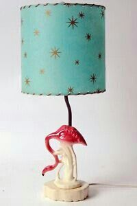 Vintage flamingo lamp. Flamingo + Atomic fiberglass shade = decor bliss