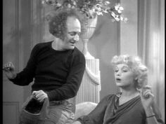 Larry Fine (of the Three Stooges) and Lucille Ball.