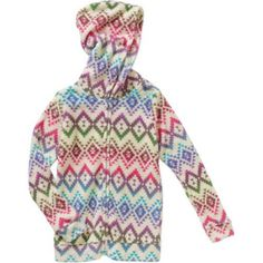 Colette Lilly Girls' All Cuddled Up Printed Zip-up Hooded Cuddle Jacket, Size: 4, Multicolor