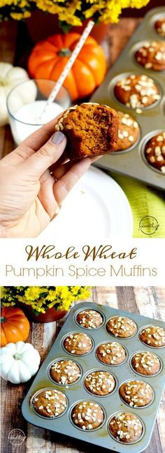 My whole wheat pumpkin spice muffins are a real crowd-pleaser, and they are so light and fluffy. | APinchOfHealthy.com http://healthyquickly.com/5-essential-healthy-breakfast-tips-for-easy-fat-burning/