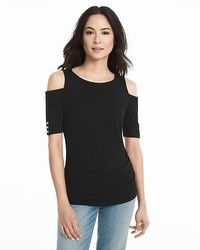 Rio Elbow Sleeve Cold-Shoulder Top