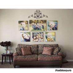 Семейные фотографии в интерьере